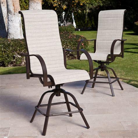Furniture: Outdoor Aluminum Swivel Bar Stools Swivel Bar