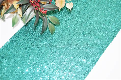 aqua blue table runner aqua blue sequin table runners wholesale