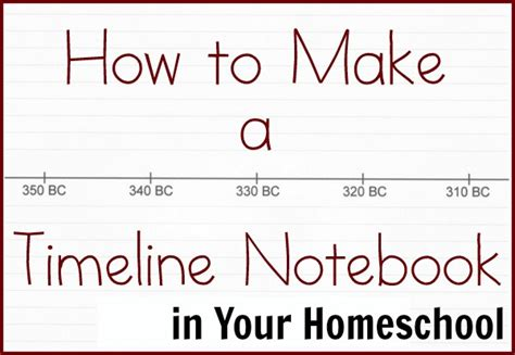 How To Make A Timeline On Paper - how to make a timeline notebook in your homeschool free