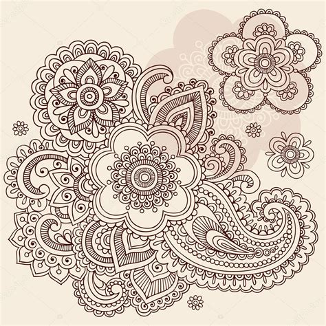 henna tattoo designs vector henna mehndi paisley flowers doodle vector design stock