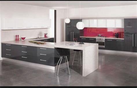 Grey Kitchen White Bench Tops Kitchen Ideas Pinterest