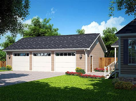 3 car detached garage house with unattached shop under 3 car garage plans