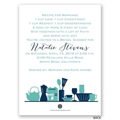 Kitchen Gadgets Petite Bridal Shower Invitation Kitchen Bridal Shower Invitations