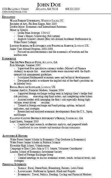 Resume Types And Sles Hybrid Resume Template