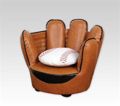 baseball glove chair and ottoman baseball glove chair pillow set