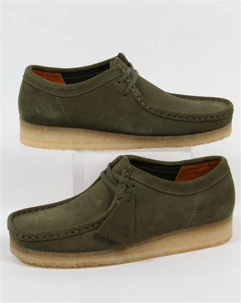 Clark Suede clarks originals wallabee shoes in suede leaf green moccasin