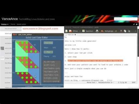 arduino code generator 3x3x3 led cube editor code generator for arduino youtube