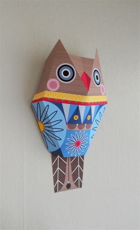Owl Papercraft - mr owl paper craft wall by giggenbach project