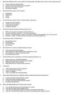 place health test practice questions