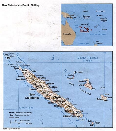map of new caledonia and australia detailed political and relief map of new caledonia with