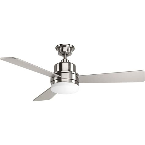 progress lighting ceiling fans progress lighting trevina collection brushed nickel 52 in