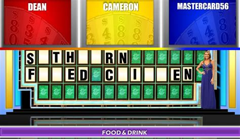 wheel of fortune powerpoint game template wheel of fortune