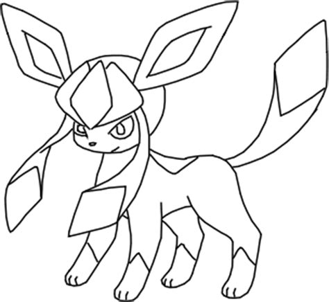 pokemon coloring pages of leafeon dreamworld glaceon lineart by bellanoriji on deviantart