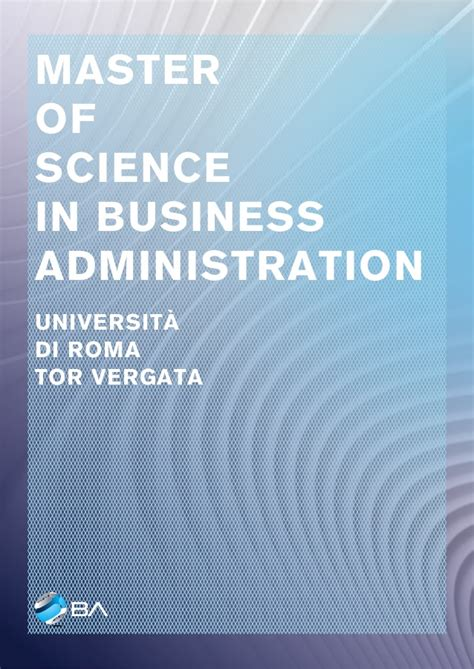 Mba Vs Masters Of Science Of Business Administration by Master Of Business Administration Masters Of Science In