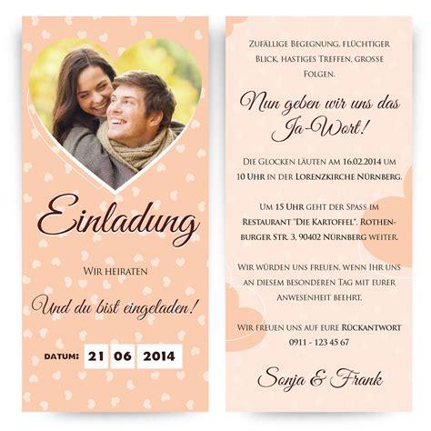 Einladung Hochzeit Mit Foto by Hochzeitseinladung Einladung Hochzeit Einladungskarten Mit