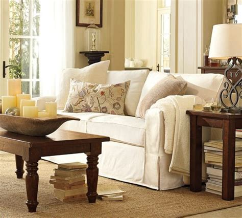 Pb Comfort Sofa by Pb Comfort Square Slipcovered Sofa Pottery Barn Sofas