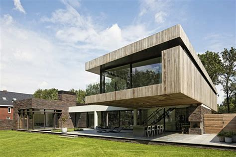 l house l shaped modern villa in the netherlands house at the edge of a forest freshome
