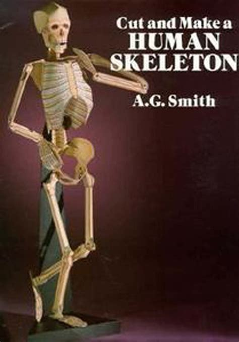 How To Make A Paper Human - papercraft human skeleton cut and make kit 1989