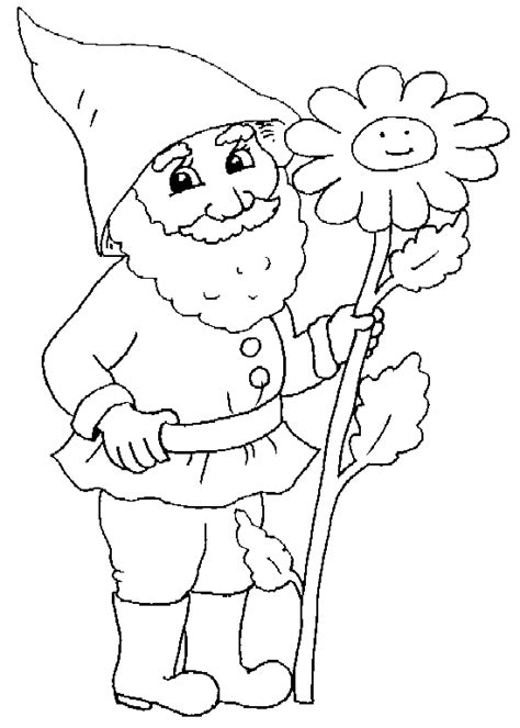 gnome coloring pages printable gnome coloring pages craft
