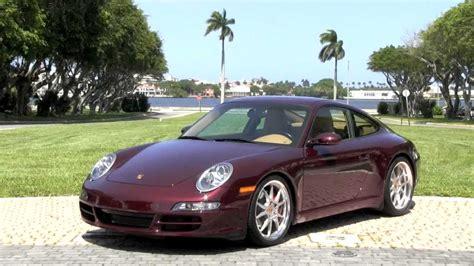 maroon porsche 2007 porsche 911 carrera s 997 carmona red metallic