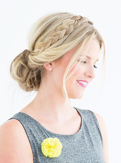 loosely braided updo for bridal shower wedding bridesmaid hair updo braid bridesmaid