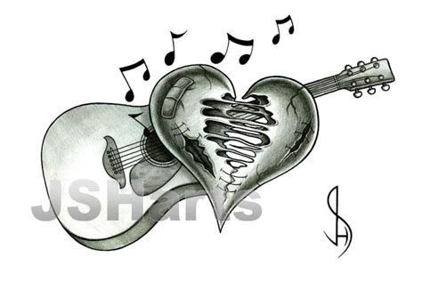 how to play tattooed heart on guitar guitar with torn heart tattoo design by jsharts on deviantart