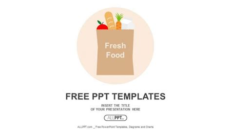 free food templates paper bag with fresh food powerpoint templates