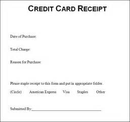 Credit Card Receipt Template Word Sample Credit Card Receipt Credit Card Receipt Sample