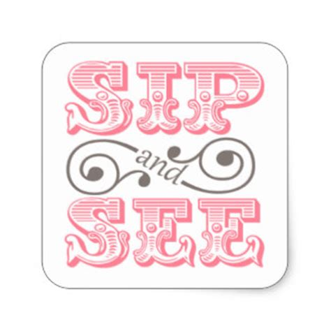 Sip And See Baby Shower by Sip N See Stickers Zazzle