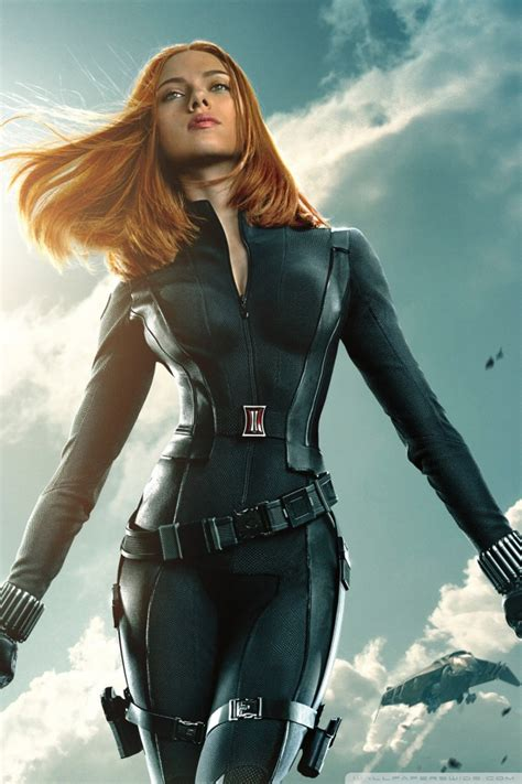 black widow  captain america  winter soldier  hd