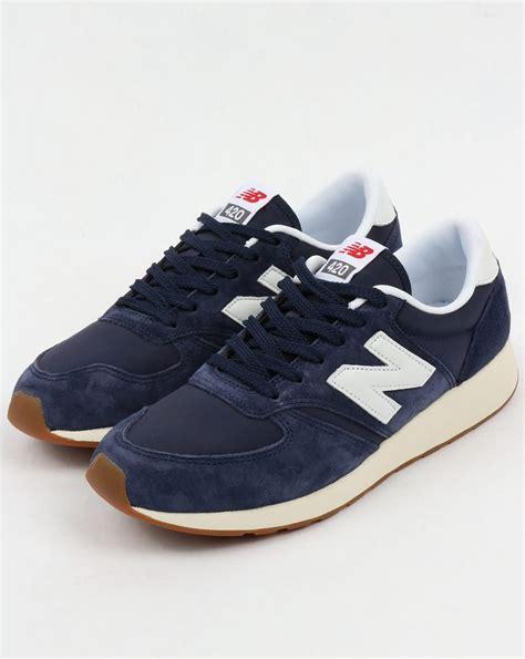 New Balance 420 St Reengineered White Blue new balance 420 re engineered suede trainers navy white blue shoes running