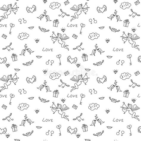 love themed coloring page love seamless pattern for st valentine s day for adult