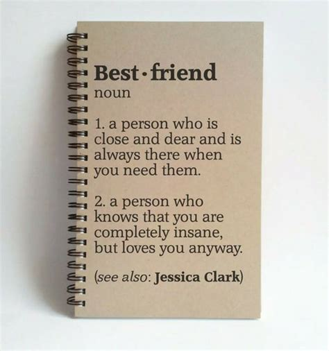 best friend definition 5x8 custom journal by thejournalcompany