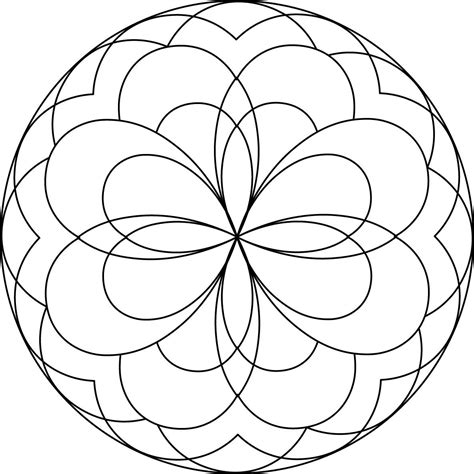 Free Coloring Pages Of Simple Mandala S Simple Colouring Pages