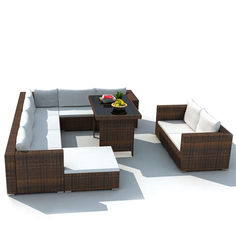 rattan outdoor dining furniture affordable variety outdoor dining furniture lounge seat set pe wicker poly rattan brown 28 pcs