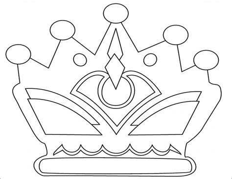 prince crown coloring page crown template free templates free premium templates