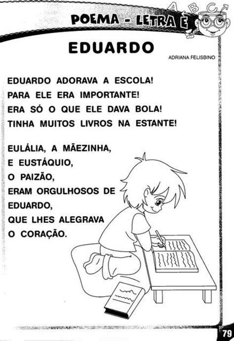 Poema e atividades com a letra E. - Aprender e Brincar