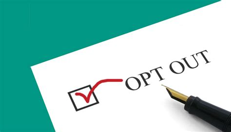 Records Opt Out Opting Out Of The Scheme