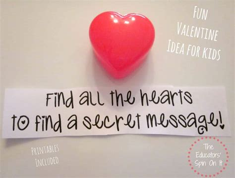 secret s day messages s day scavenger hunt with free printables the