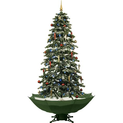 green head christmas tree snow fall fraser hill farm 67 in snowing musical tree with green base and snow function