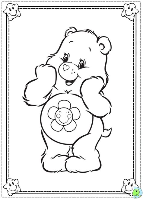 wonderheart bear coloring page care bears coloring pages for kids printable care best