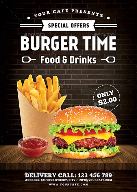 template flyer burger burger flyer by rafiqfarzali graphicriver