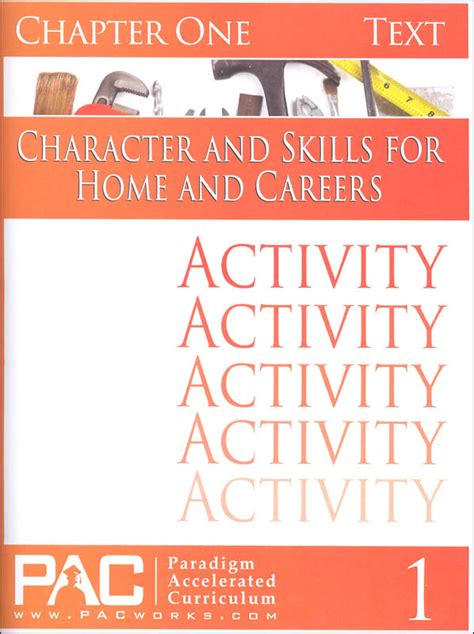 home and careers lesson plans character skills for home careers chapter 1 activities