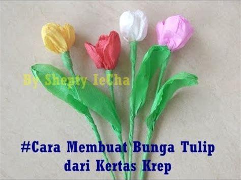 cara membuat bunga dari kertas manggis cara membuat bunga tulip dari kertas krep youtube
