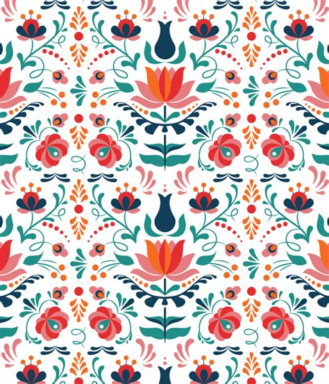 pattern cute illustrator how to design a colorful hungarian folk art pattern in