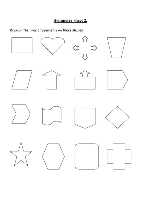 Rotational Symmetry Worksheets by 14 Best Images Of Lines Of Symmetry Worksheets Line
