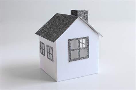 paper house christmas diy week 6 8 glitter paper houses a cup of thuy