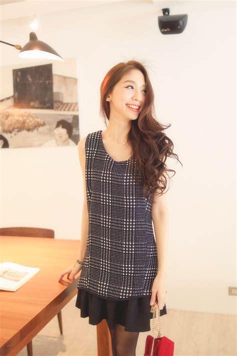 design japanese dress mayuki womens plaid pattern peplum design sleeveless dress