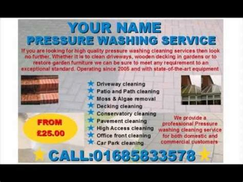 Pressure Washing Cleaning Business Templates Download Business Pressure Washing Template