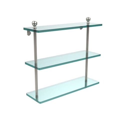 brushed nickel bathroom shelving unit moen icon 20 in w glass shelf in brushed nickel yb5890bn